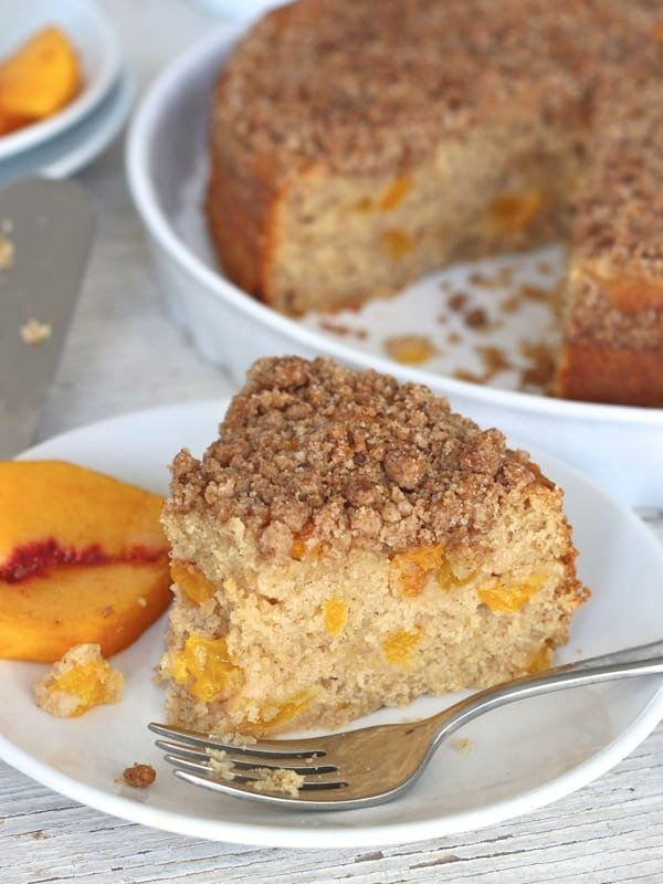 peach coffee cake coffee cake the bakermama 6402