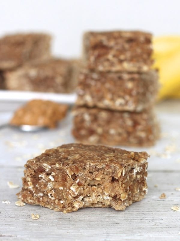 Whole Wheat Peanut Butter Banana Oat Bars