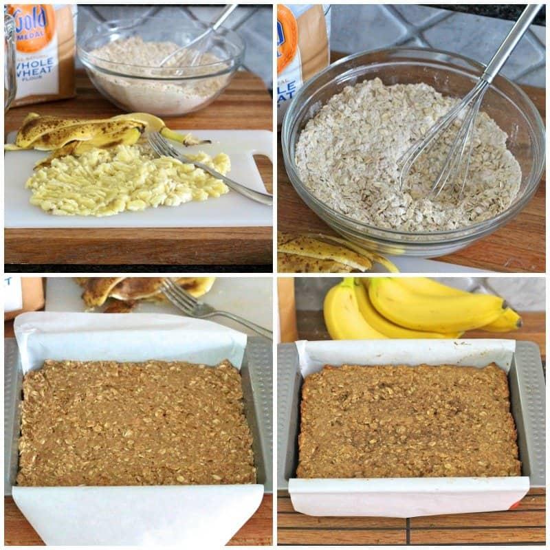 Whole Wheat Peanut Butter Banana Oat Bars