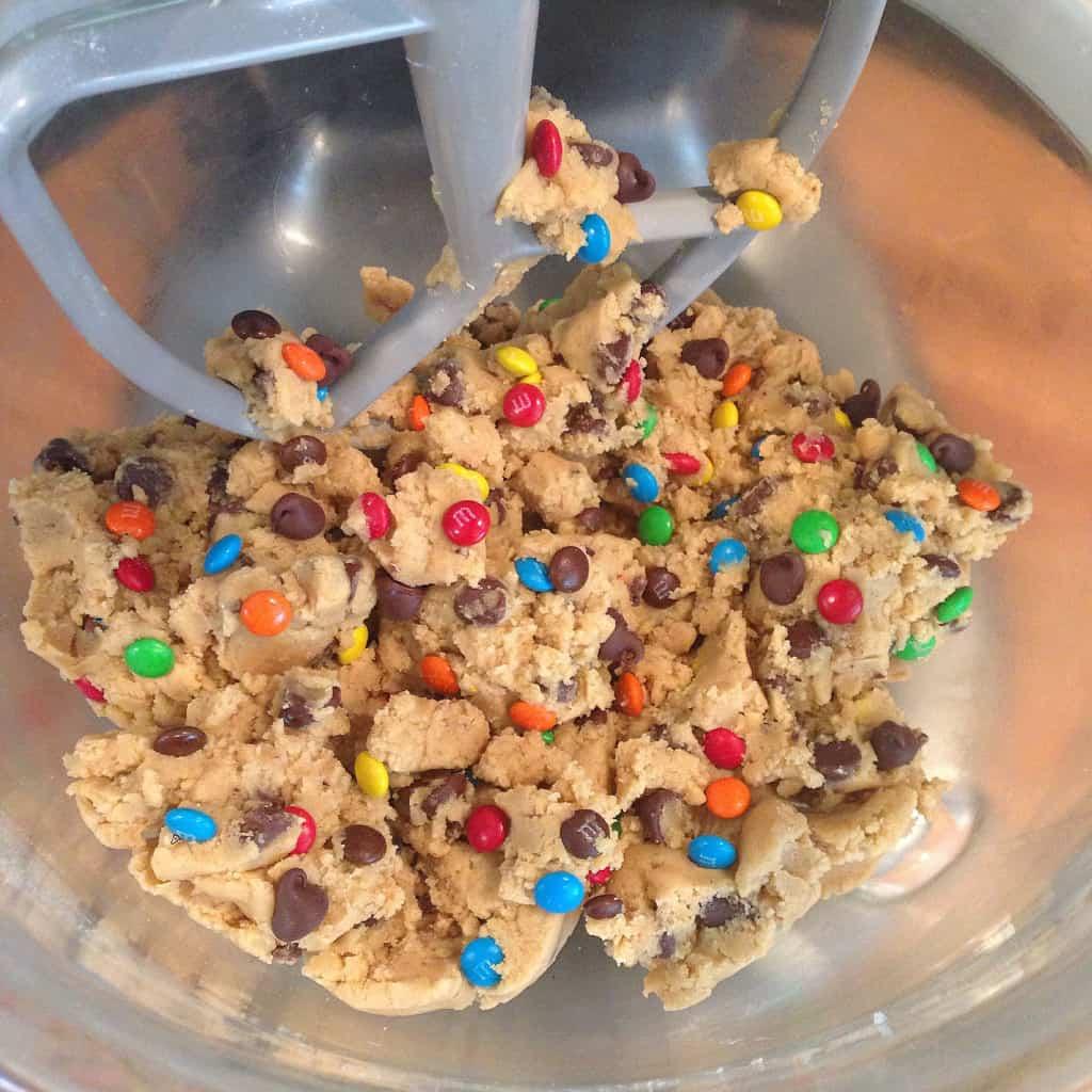 MandM Chocolate Chip Pudding Cookies