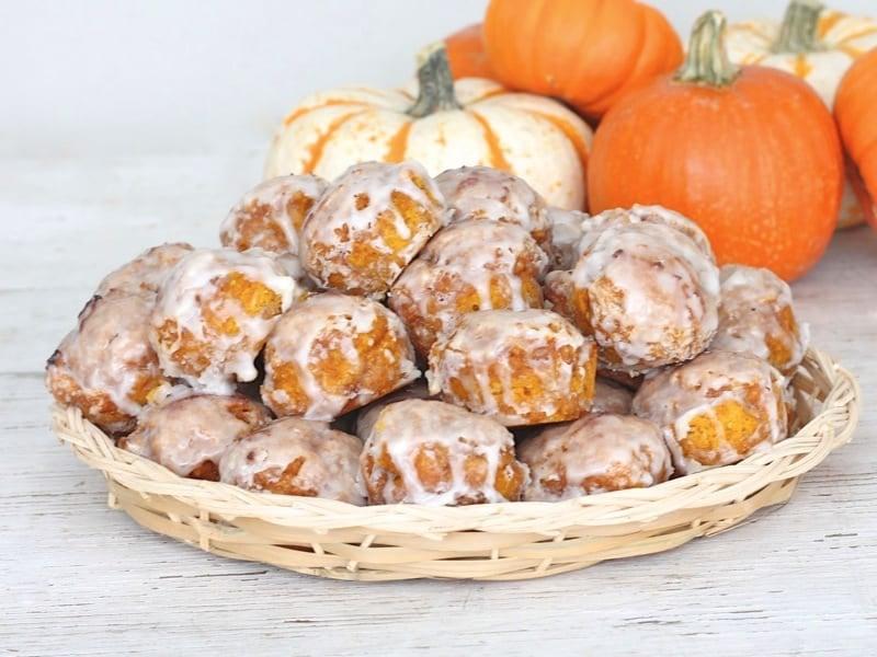 Baked Pumpkin Fritter Bites