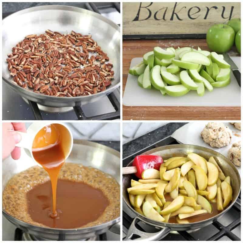 Caramel Apple Pecan Shortcakes