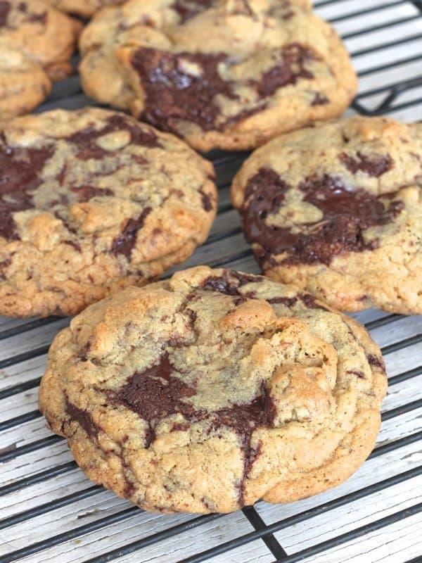 Dark Chocolate Walnut Cookies