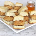 Oven-Fried Mini Chicken Biscuits