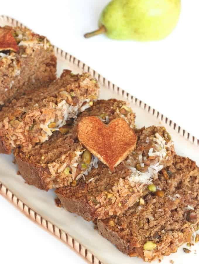 Pear Pistachio Coconut Bread