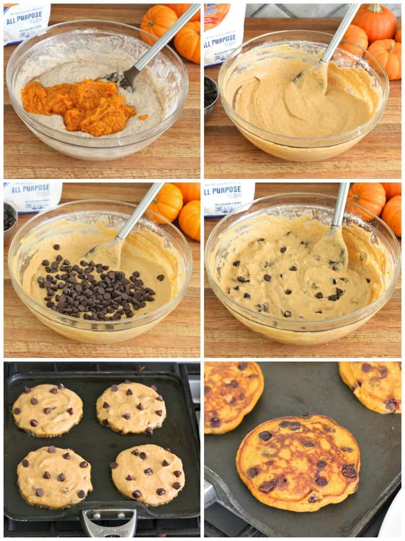 Pumpkin chocolate chip pancakes the bakermama pumpkin chocolate chip pancakes ccuart Images