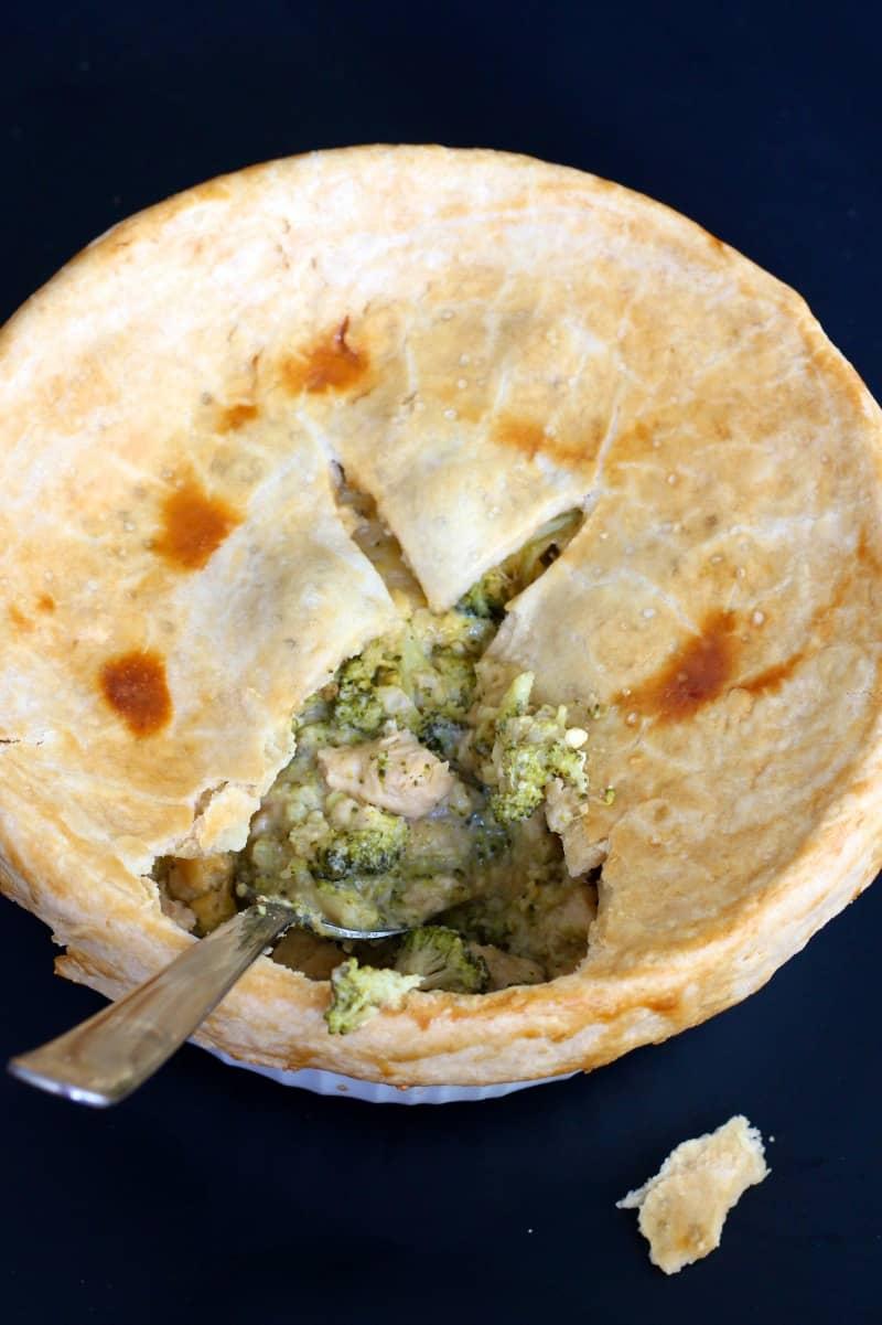 Cheesy Chicken Broccoli Pot Pie