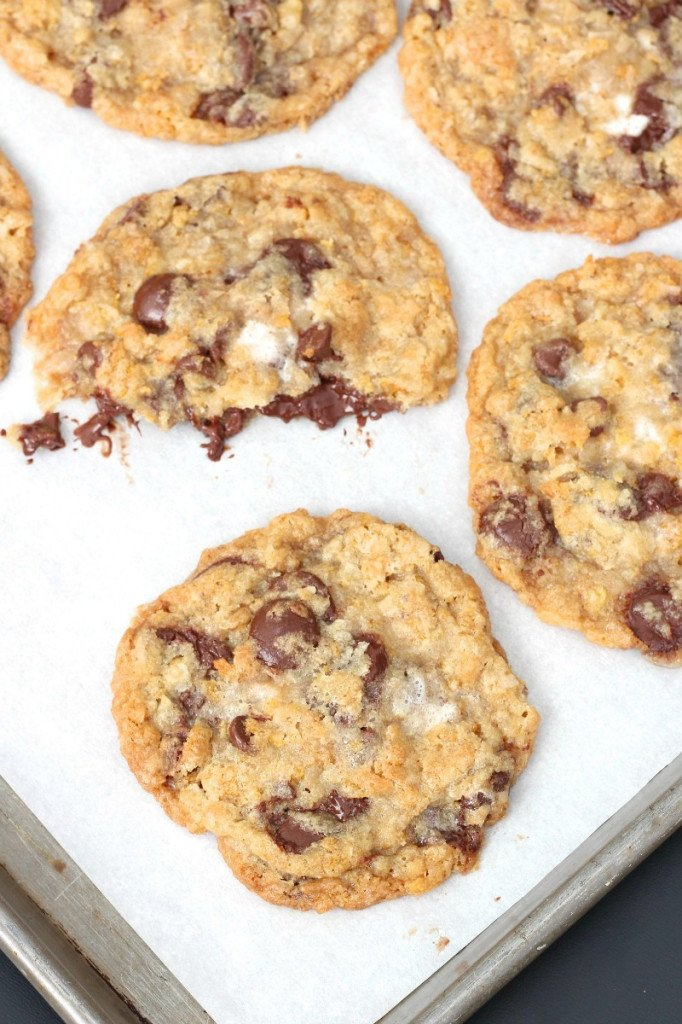 Corn Flake Coconut Chocolate Chip Cookies