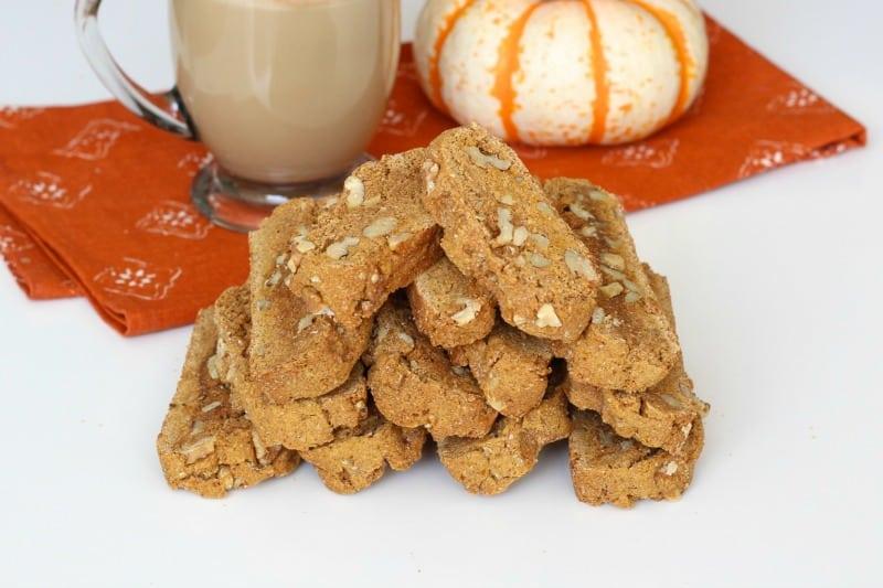 Pumpkin Walnut Biscotti - The Baker Mama