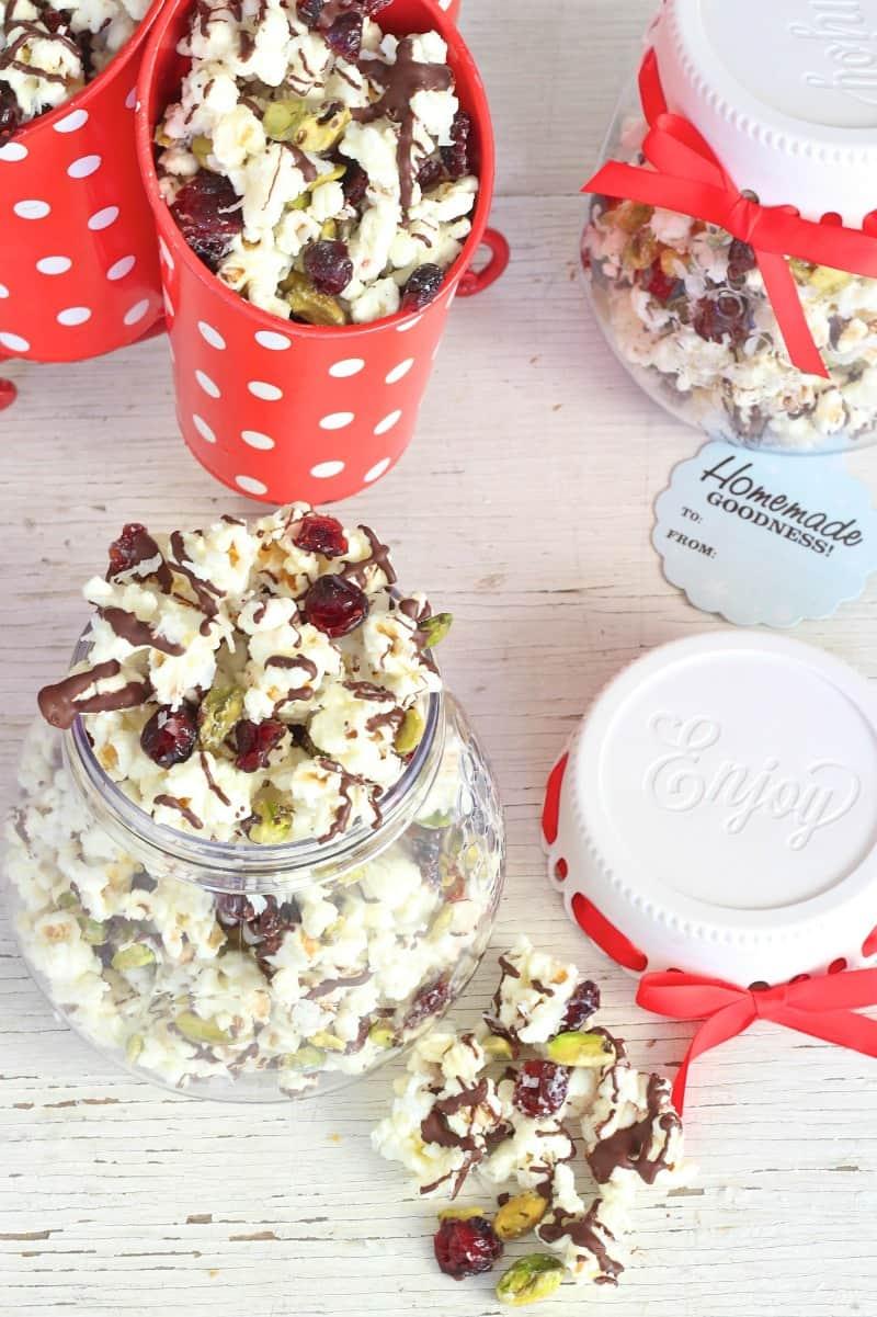 Cranberry Coconut Pistachio Popcorn