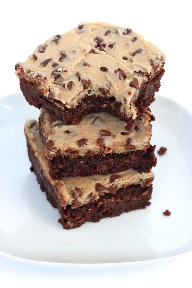 Cookie Dough Frosted Fudge Brownies