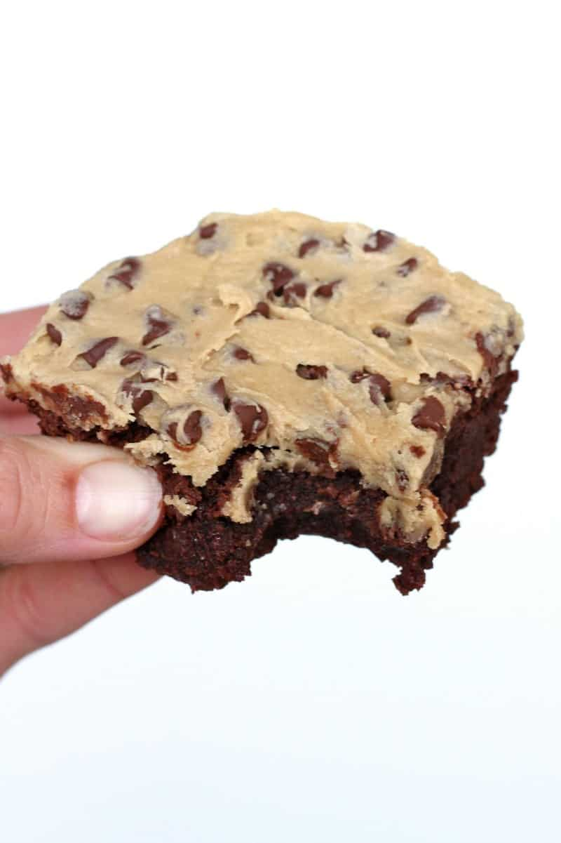 Cookie Dough Frosted Fudge Brownies | The BakerMama