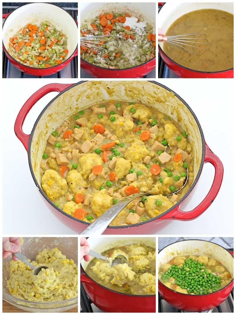 Turkey and Cornbread Dumplings