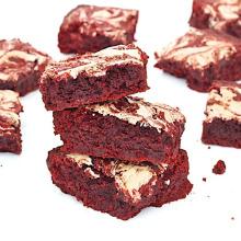 Marshmallow Swirled Red Velvet Brownies