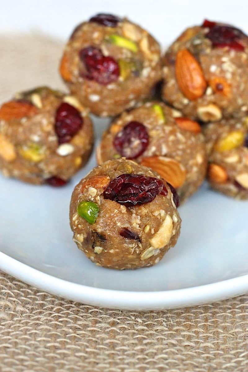 Trail Mix Quinoa Energy Bites
