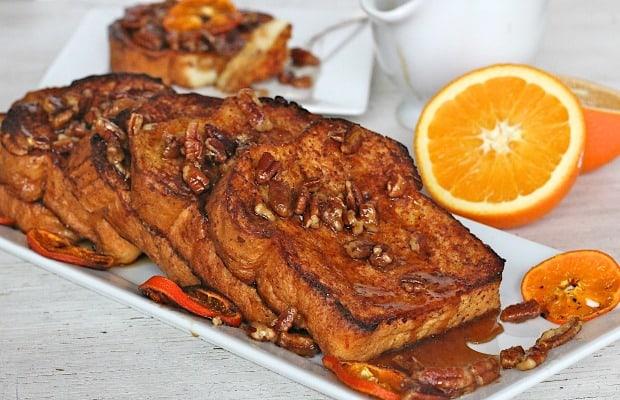 Orange Pecan French Toast   The BakerMama