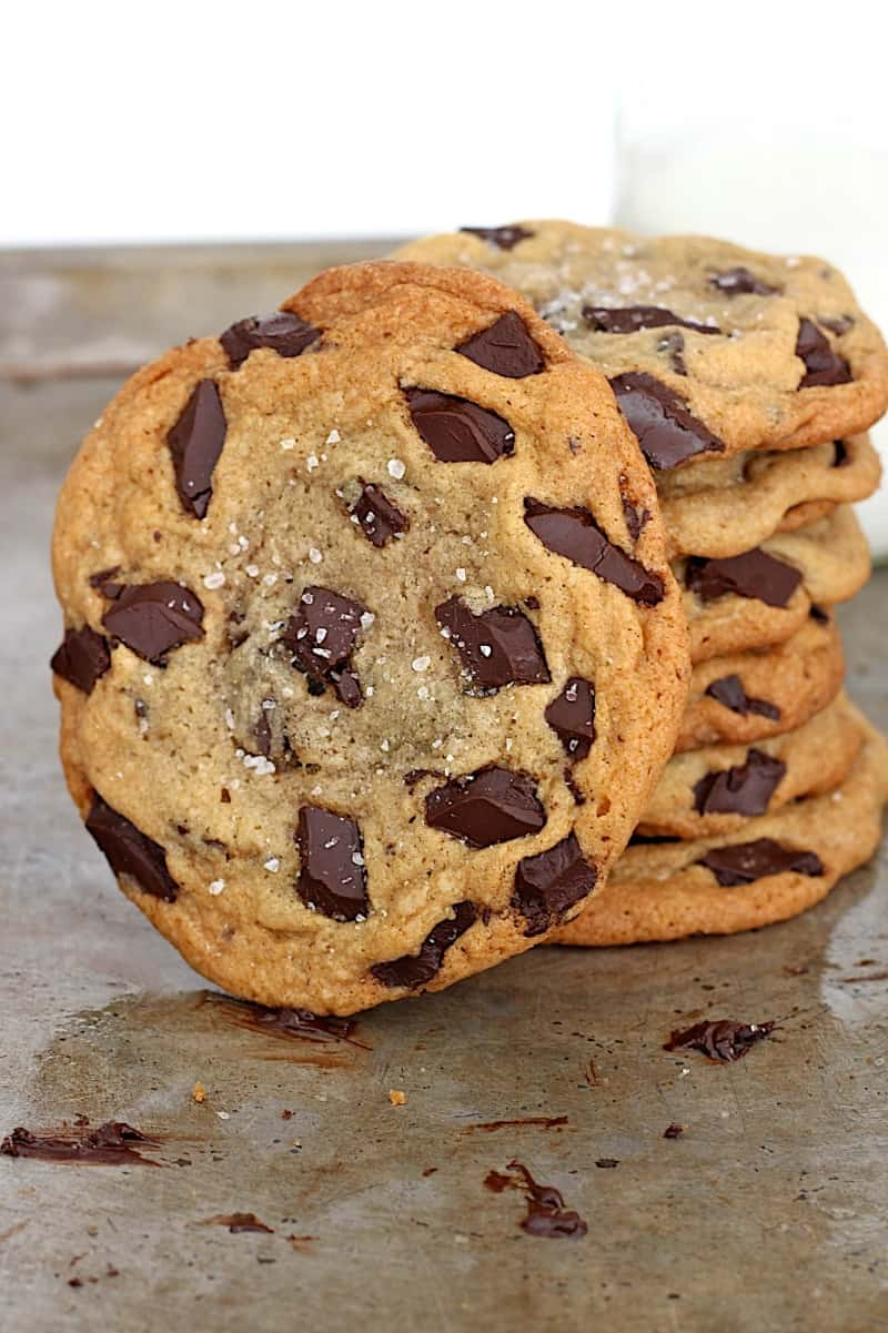 Sea Salt Chocolate Chunk Cookies | The BakerMama