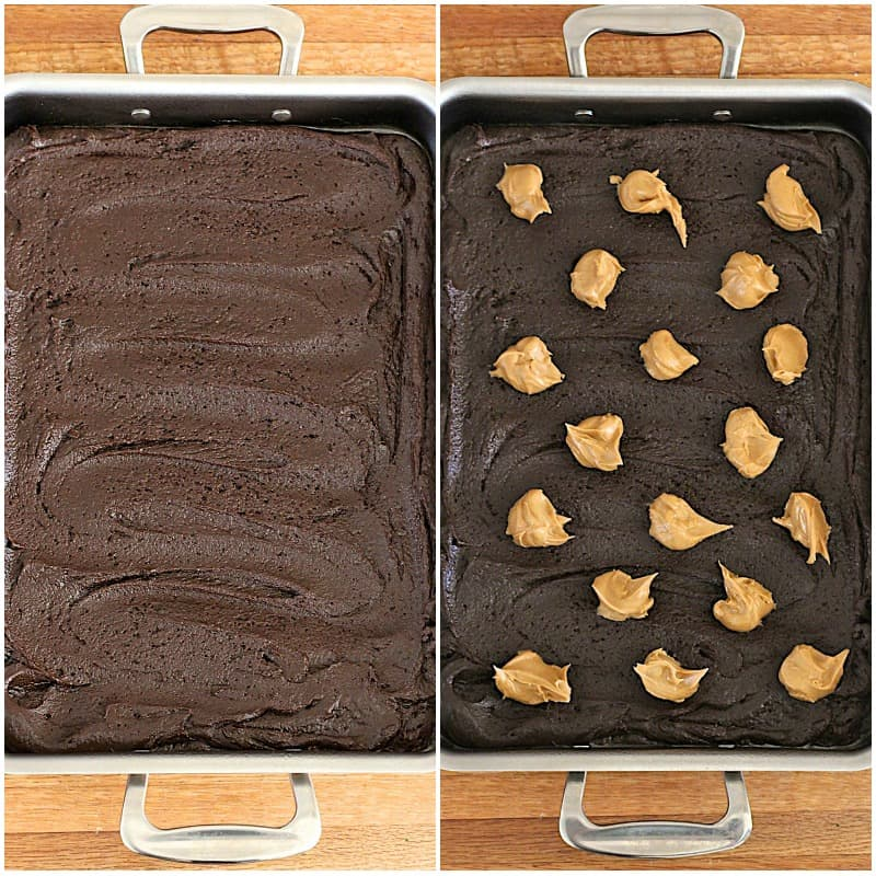 Swirled Peanut Butter Cup Brownies