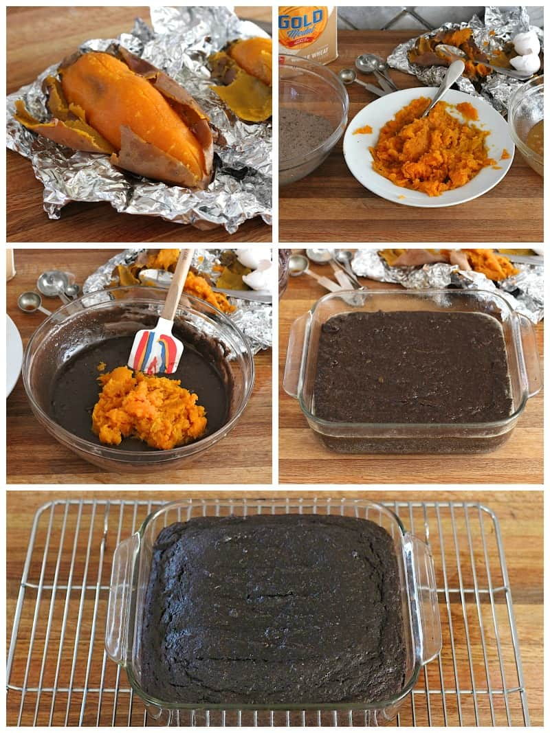 Whole Wheat Sweet Potato Brownies