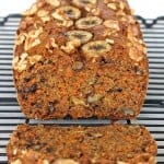 Whole Wheat Banana Nut Carrot Cake Bread