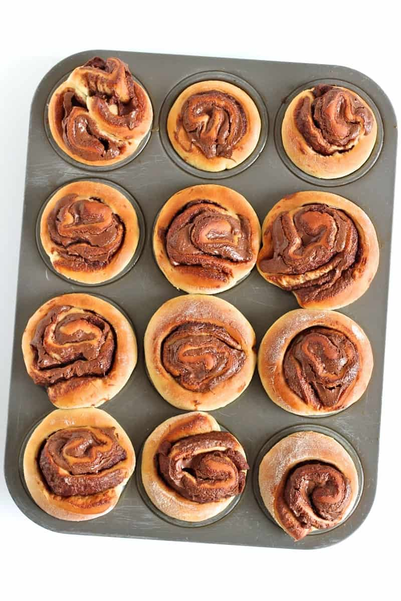 Nutella Roll Muffins