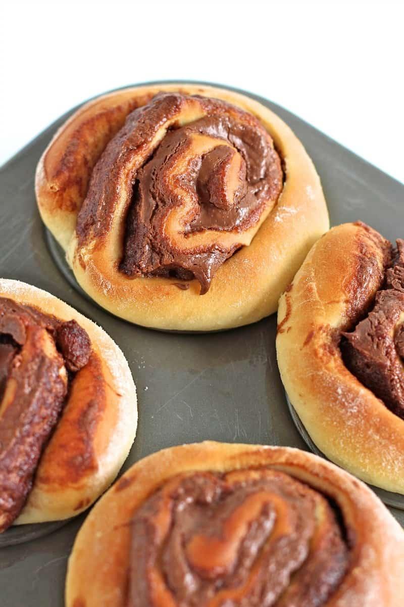 Nutella Roll Muffins