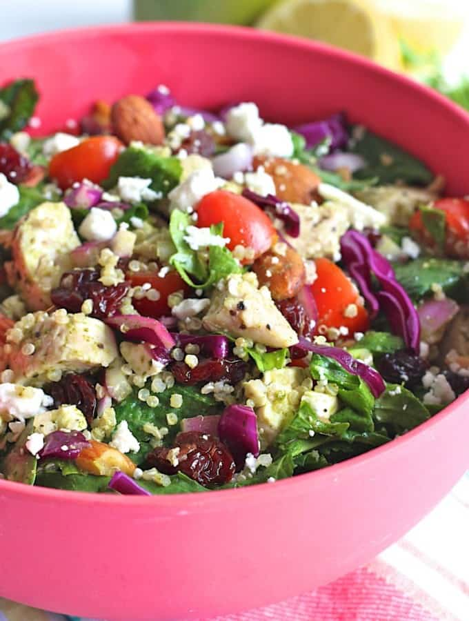 Chicken Quinoa Powerhouse Salad with Lemon Parsley Vinaigrette