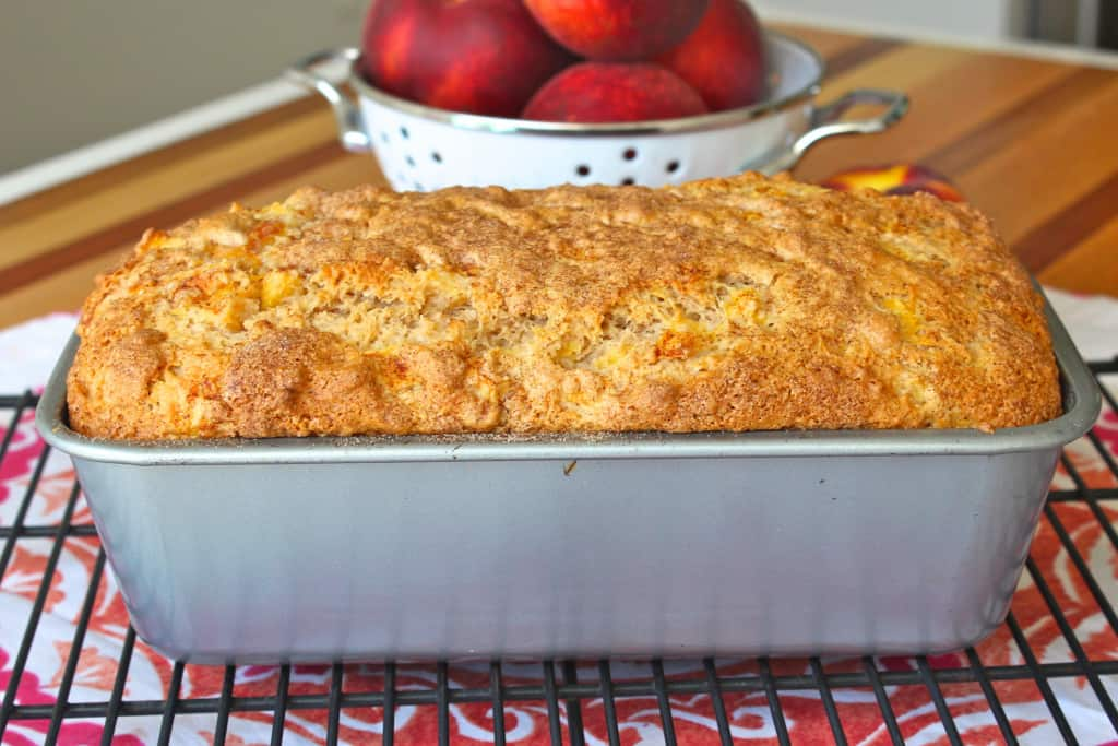 Peach Ice Cream Bread
