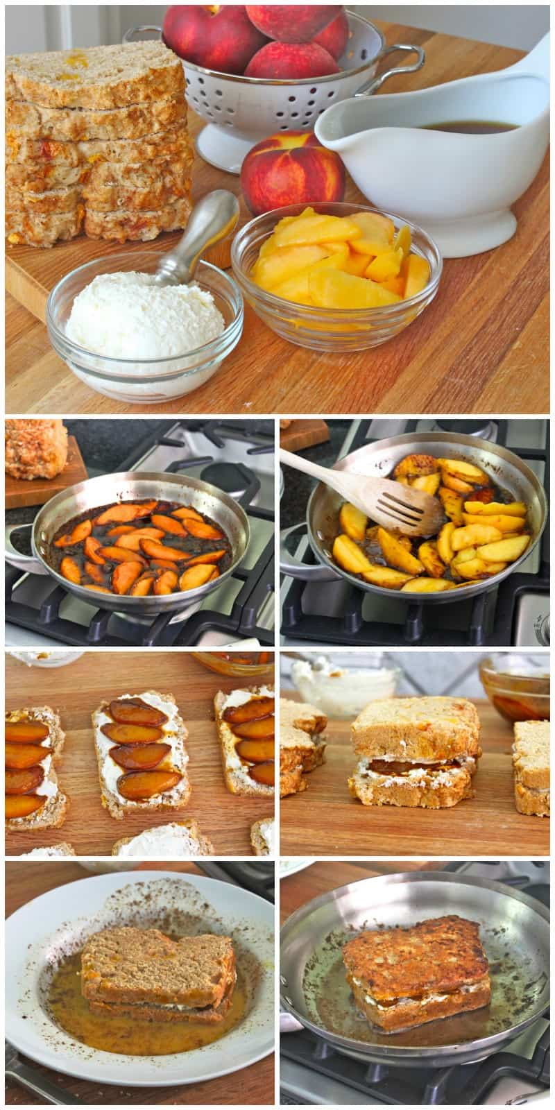 Serve warm with maple syrup, whipped cream and more peaches!
