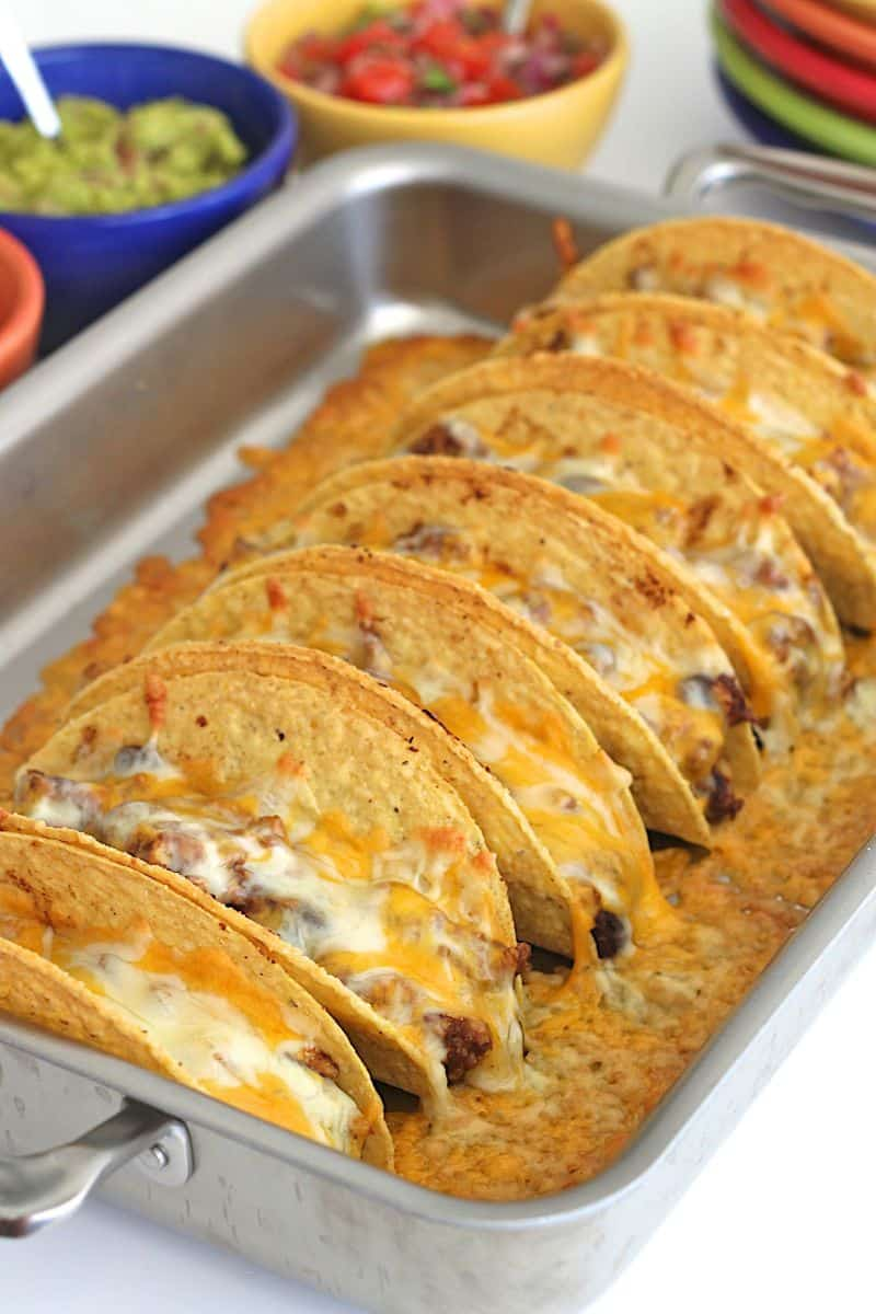 Turkey and Black Bean Baked Tacos