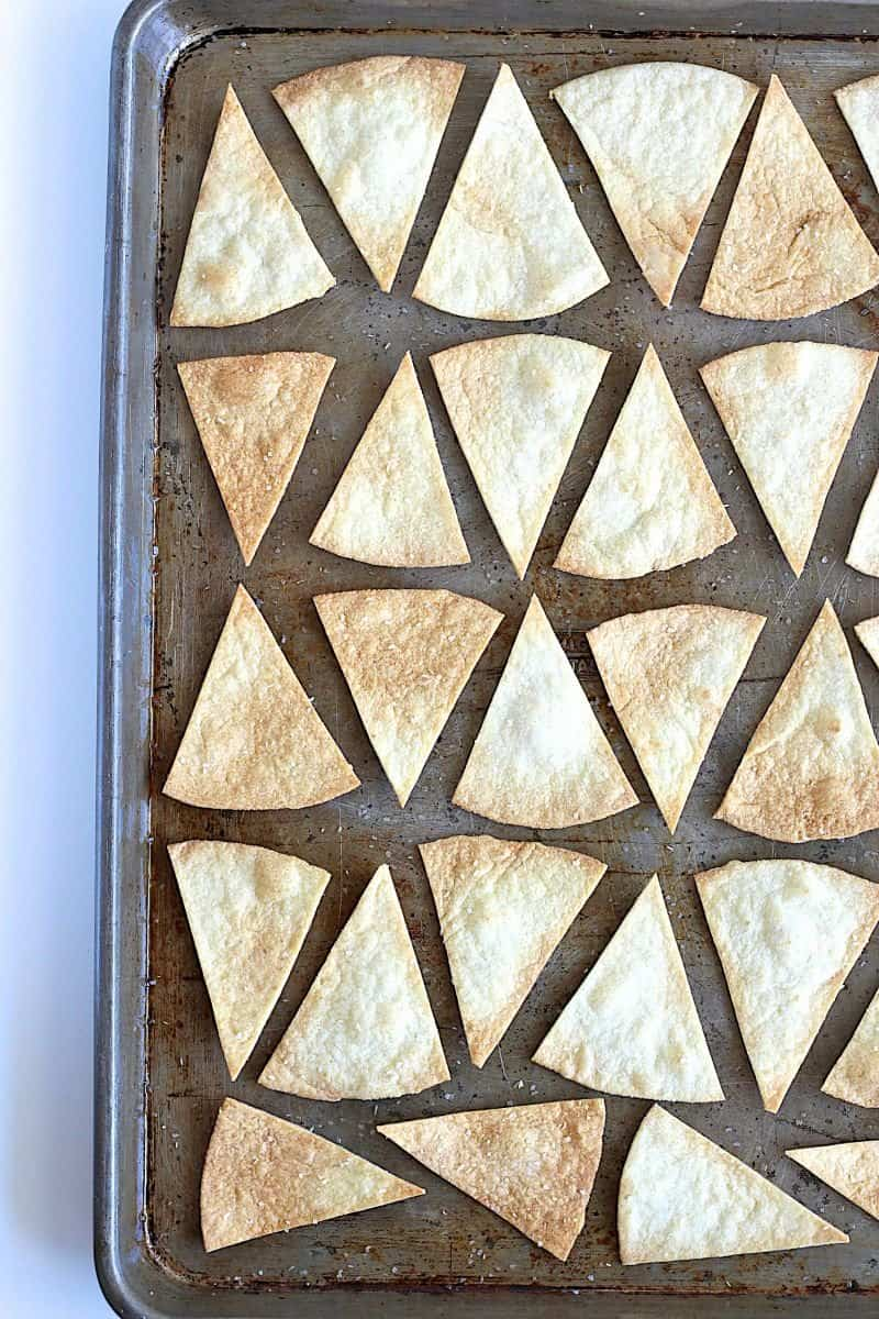 Baked Tortilla Chips - so easy, much healthier and great for dipping or making nachos.