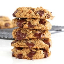 Flourless Oatmeal Chocolate Chip Cookies