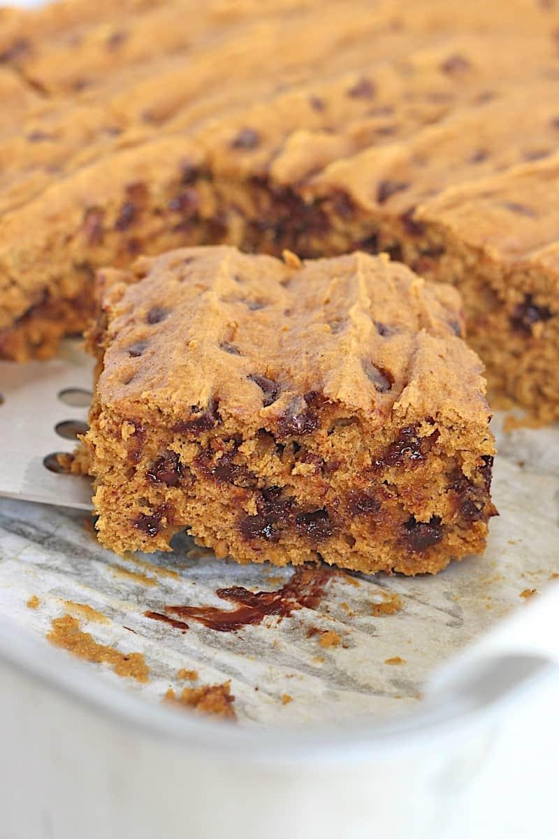 Pumpkin Chocolate Chip Snack Cake {3 Ingredients}