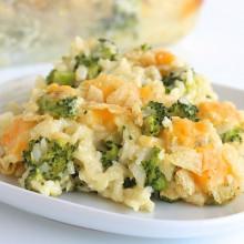 Cheesy Broccoli Rice Casserole