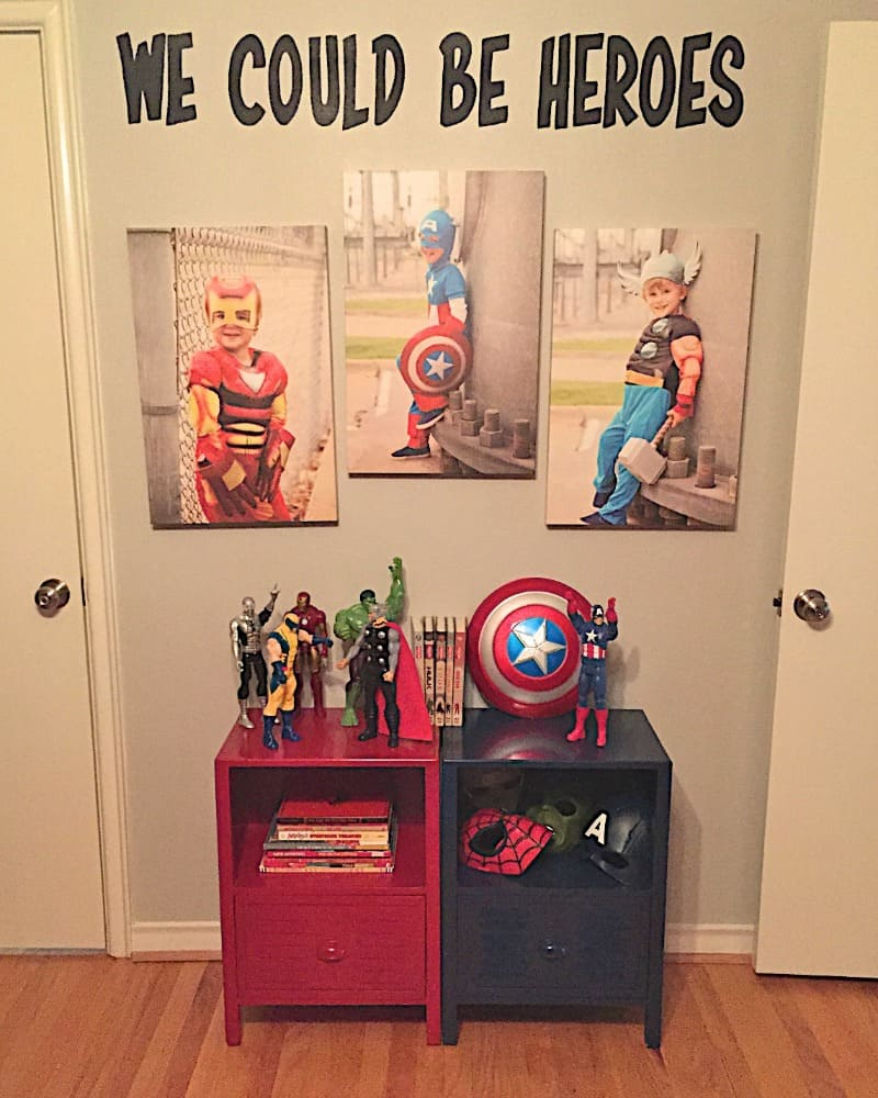 Boys Superhero Bedroom | The BakerMama