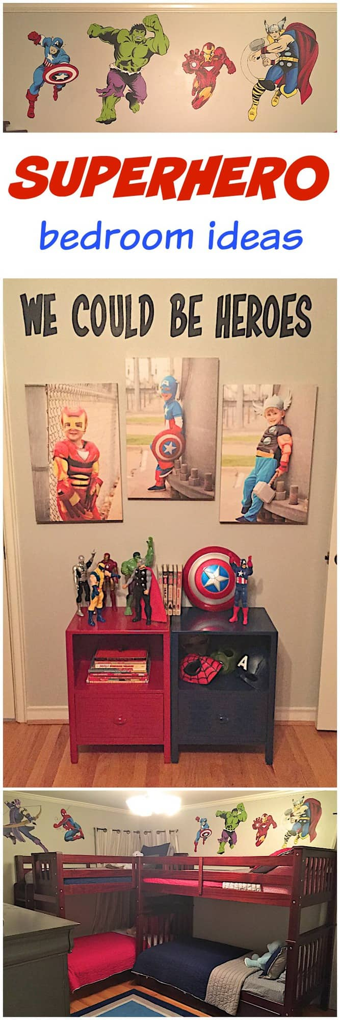Boys superhero bedroom the bakermama for Superhero bedroom ideas