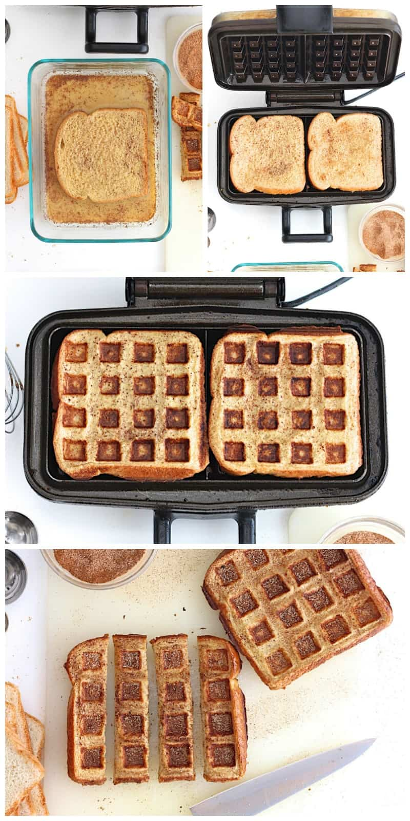French Toast Waffle Sticks | The BakerMama