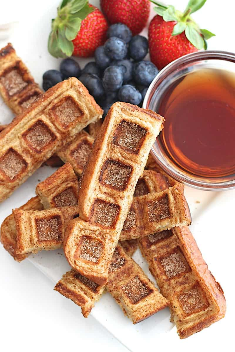 French Toast Waffle Sticks | 25 Inventive Waffle Iron Recipes To Make With Your Waffle Maker