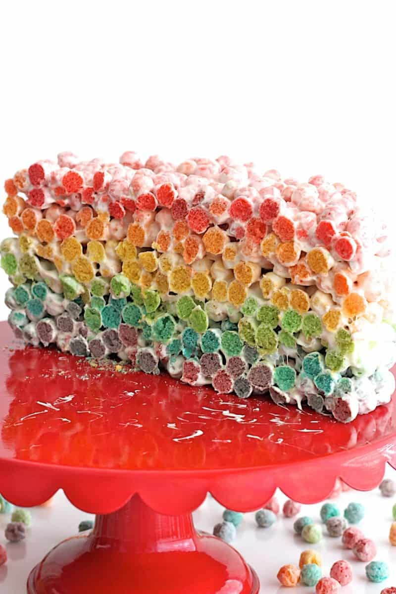 Rainbow Cereal Cake
