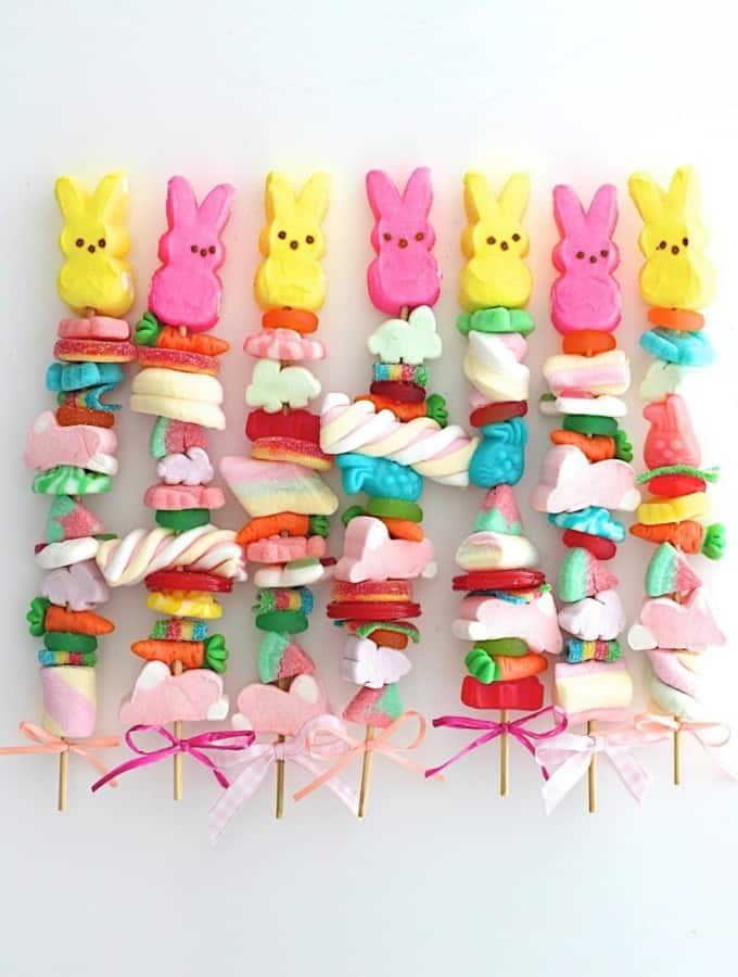Easter Candy Kabobs