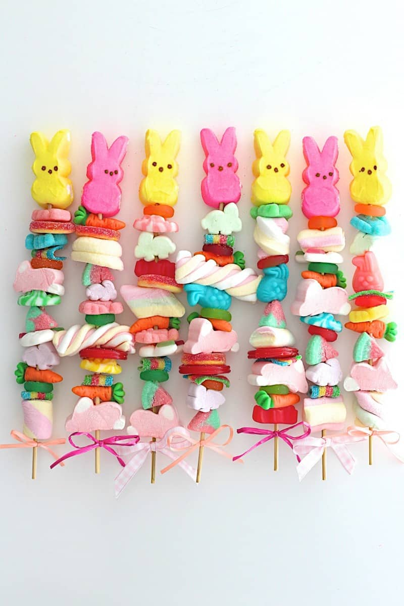 Easter Candy Kabobs - how cute are these for Easter?!