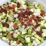 Shredded Brussels Sprouts Salad with Bacon, Apple and Gorgonzola