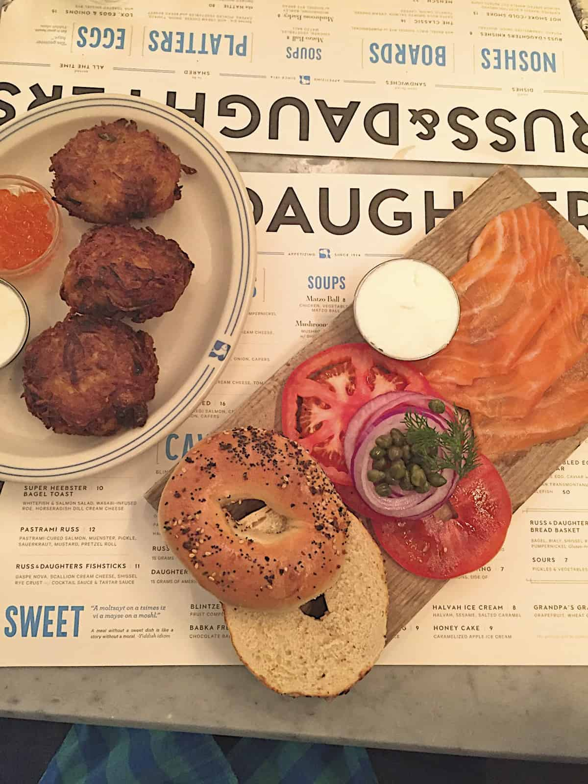 Russ and Daughters Cafe - The BakerMama Taste of NYC