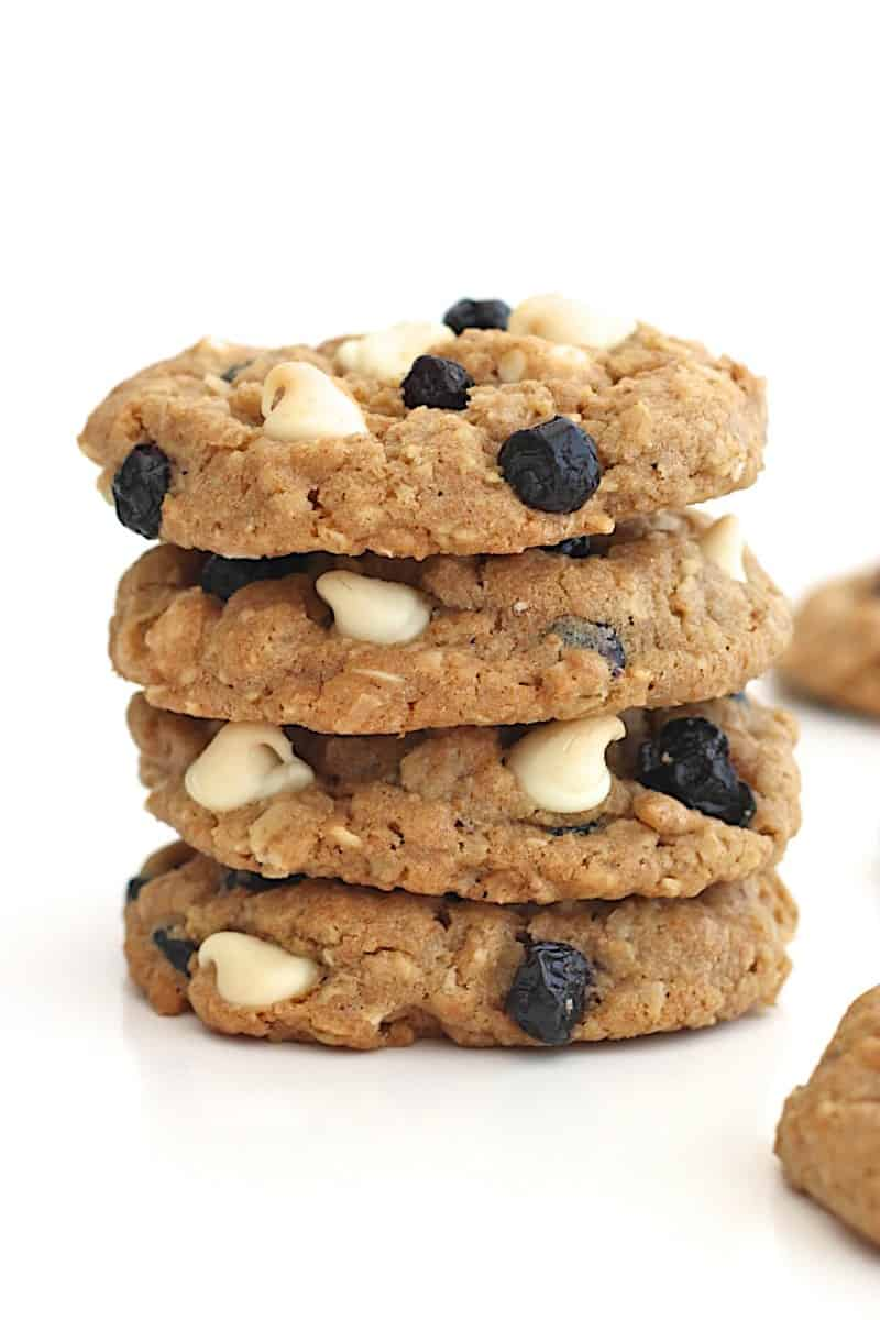 ... oatmeal cookies loaded with sweet coconut, dried blueberries and white