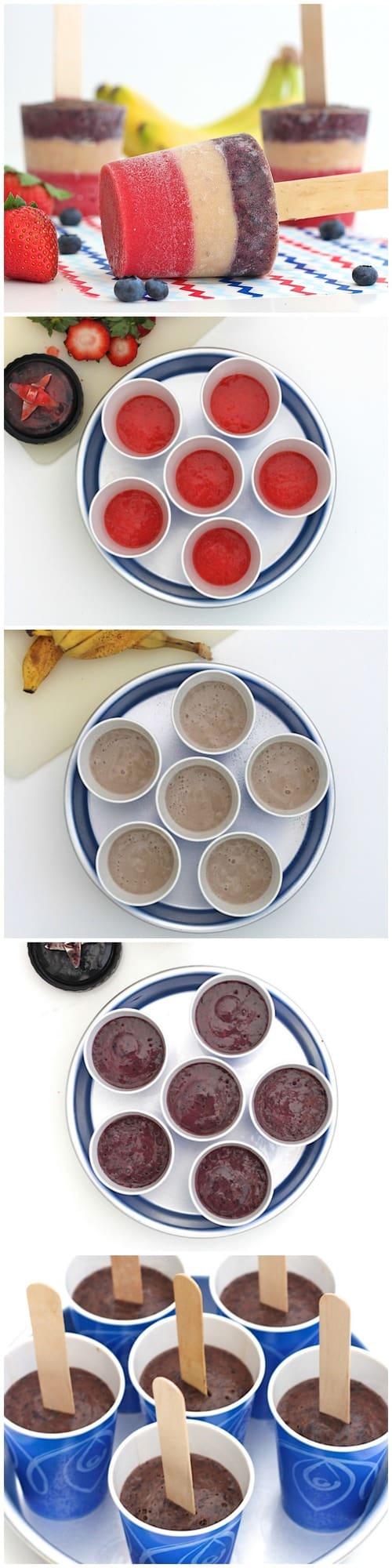 3-Ingredient Patriotic Fruit Pops