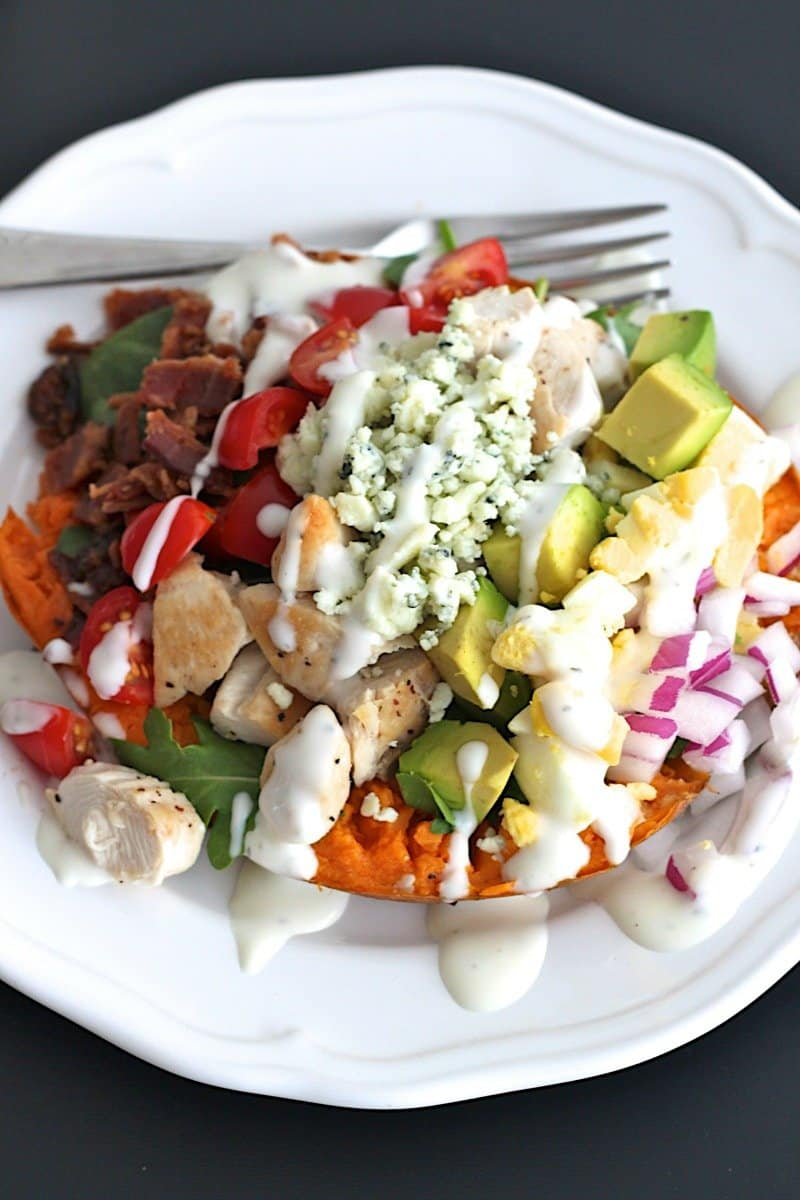 Cobb Salad Sweet Potatoes