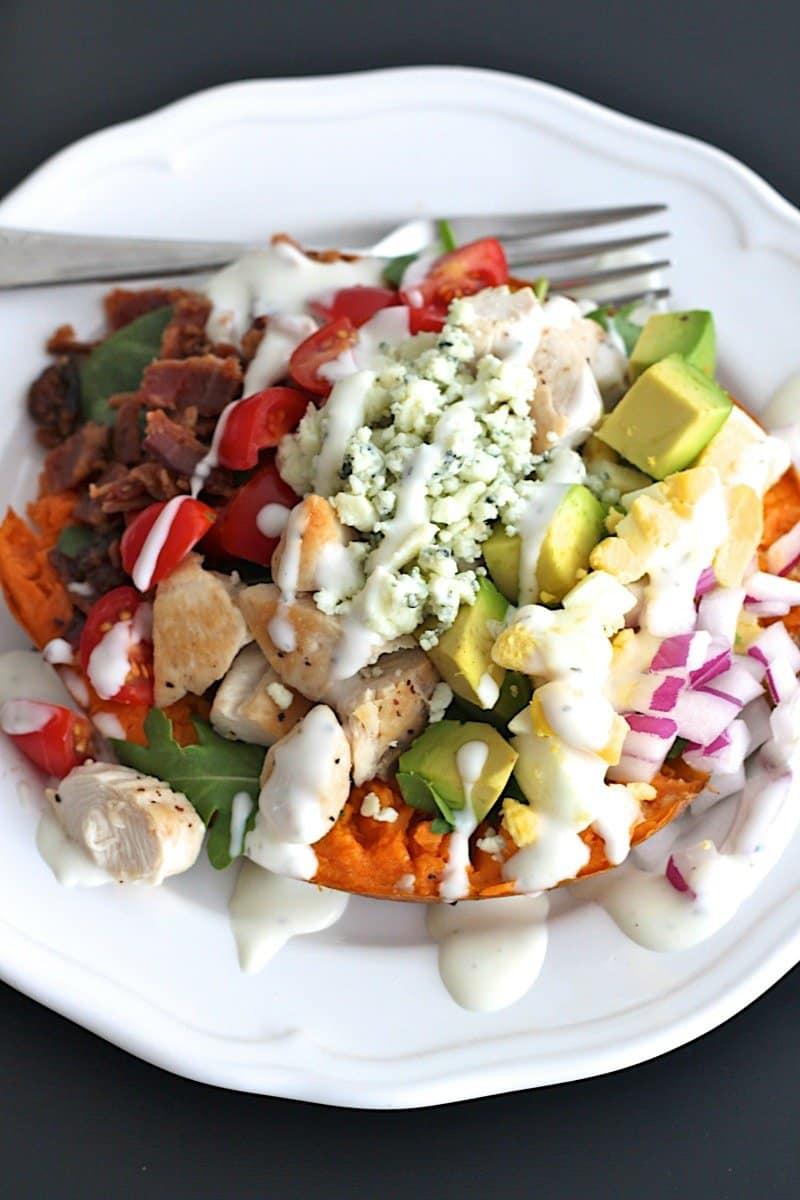Cobb Salad Sweet Potatoes