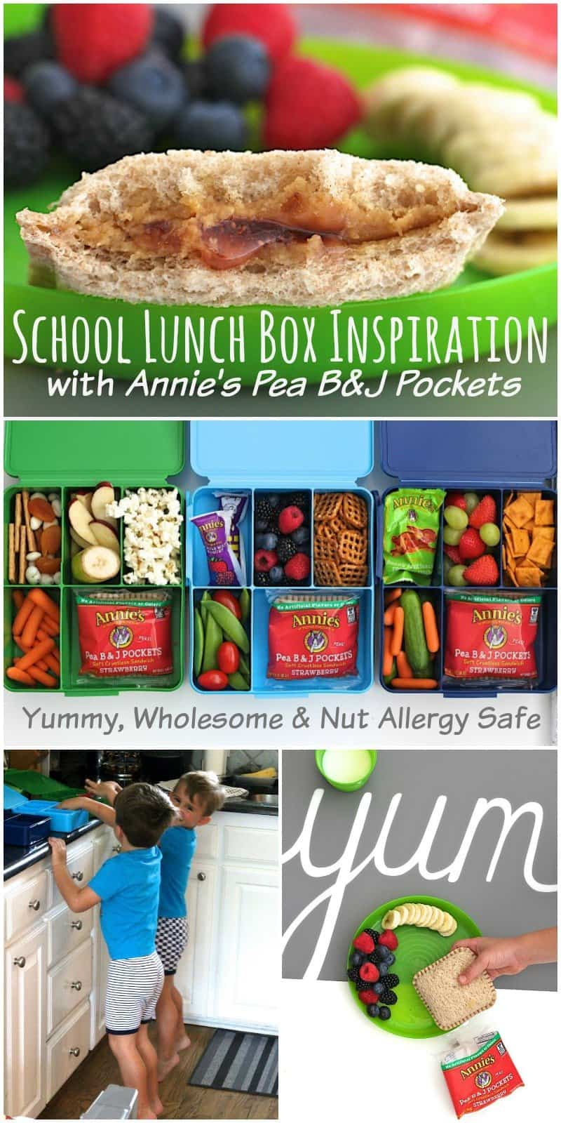 School Lunch Box Inspiration with Annie's Pea B&J Pockets