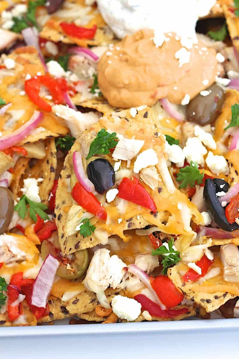 Mediterranean Chicken Nachos