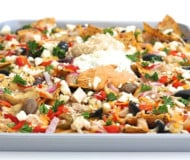Mediterranean Nachos {The Weeknight Dinner Cookbook}